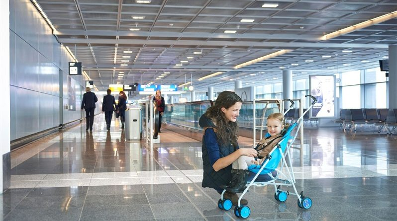 bringing strollers on airplanes